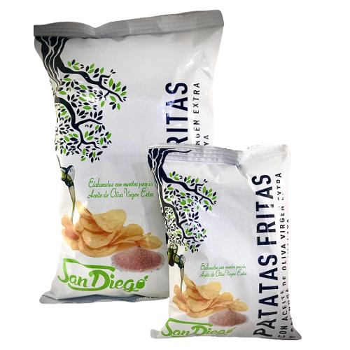 patatas fritas gourmet premium aceite oliva virgen extra sal himalaya
